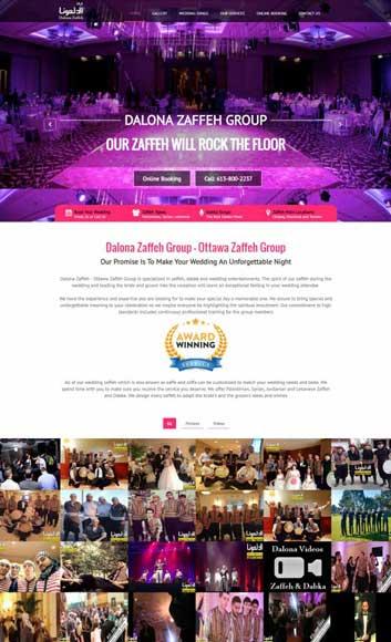 website design example Ottawa