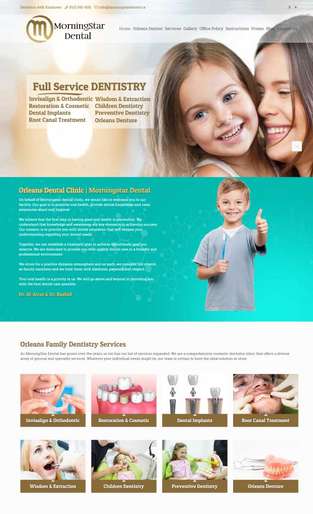 custom web design in Ottawa ON